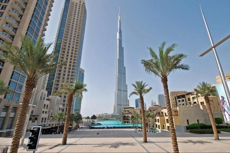 страны архитектура небоскреб рассвет Дубаи объединенные арабские эмираты  № 2209861 загрузить
