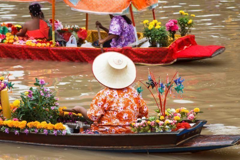 Half-day excursion from Bangkok - The floating markets