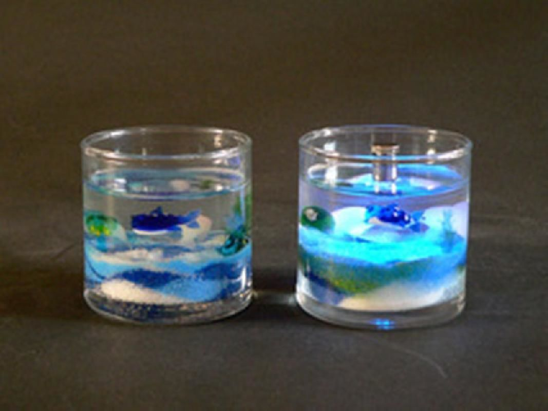 One Hour Colored Gel Candle Making Workshop in Minakami
