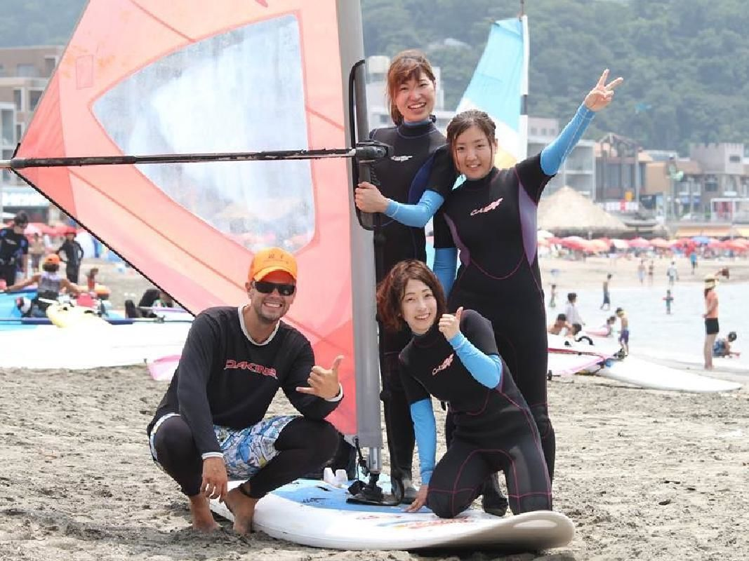 Wind Surfing Full Day Trial Lesson for Beginners in Zushi