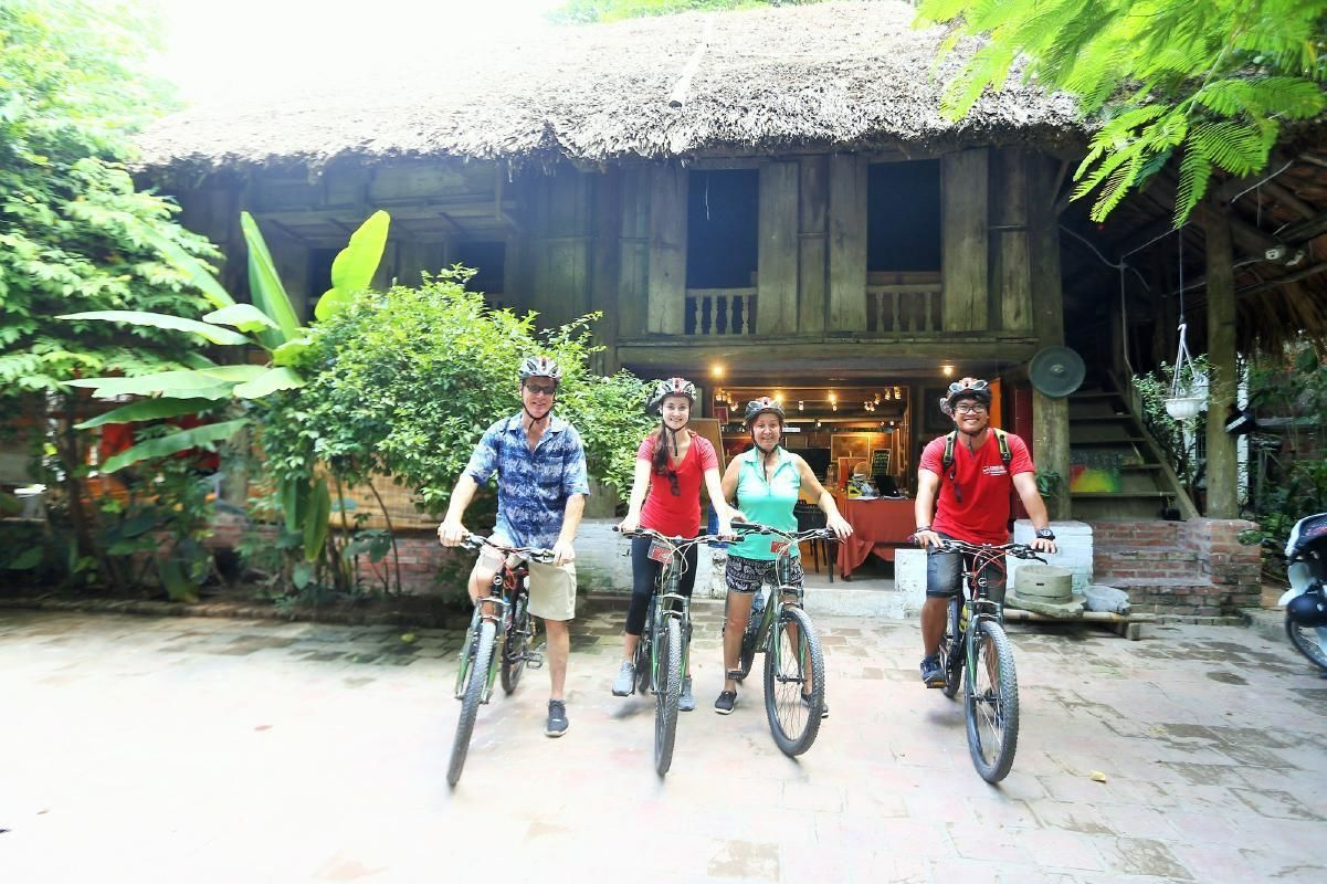 Afternoon Cycling Tour from Hanoi to Local Vietnamese Villages