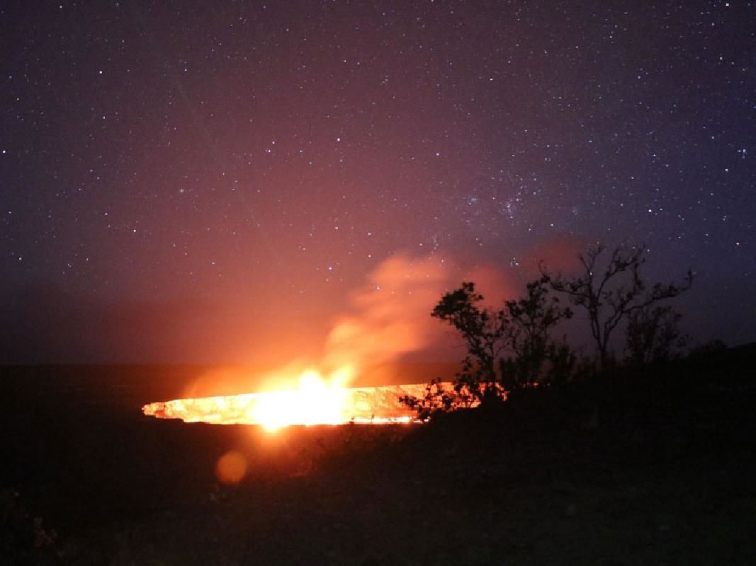 Volcano & Kona Coffee Farm Tour with Night Lava Viewing (from Kona / Waikoloa)
