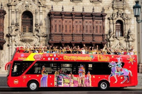 City Sightseeing panoramic bus tour of Lima