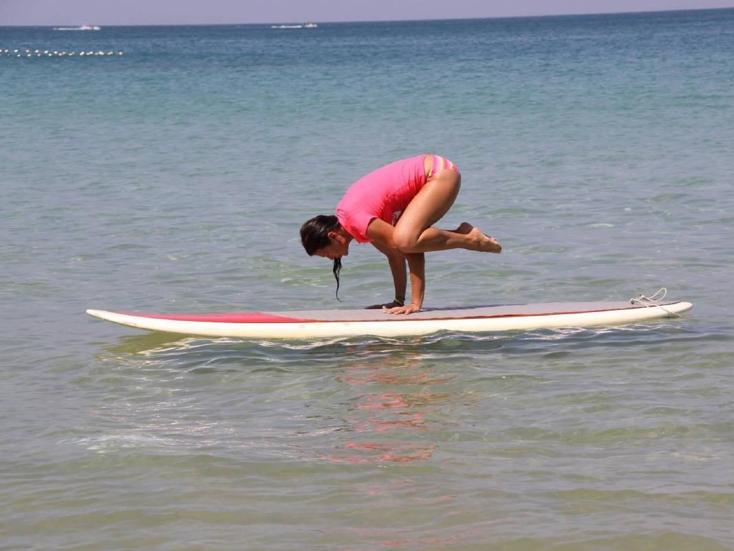SUP Yoga Class with Basic SUP Instruction in Phuket