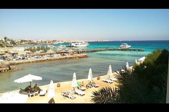 Sea trip by boat to giftun island, red sea, snorkeling then have lunch at boat,