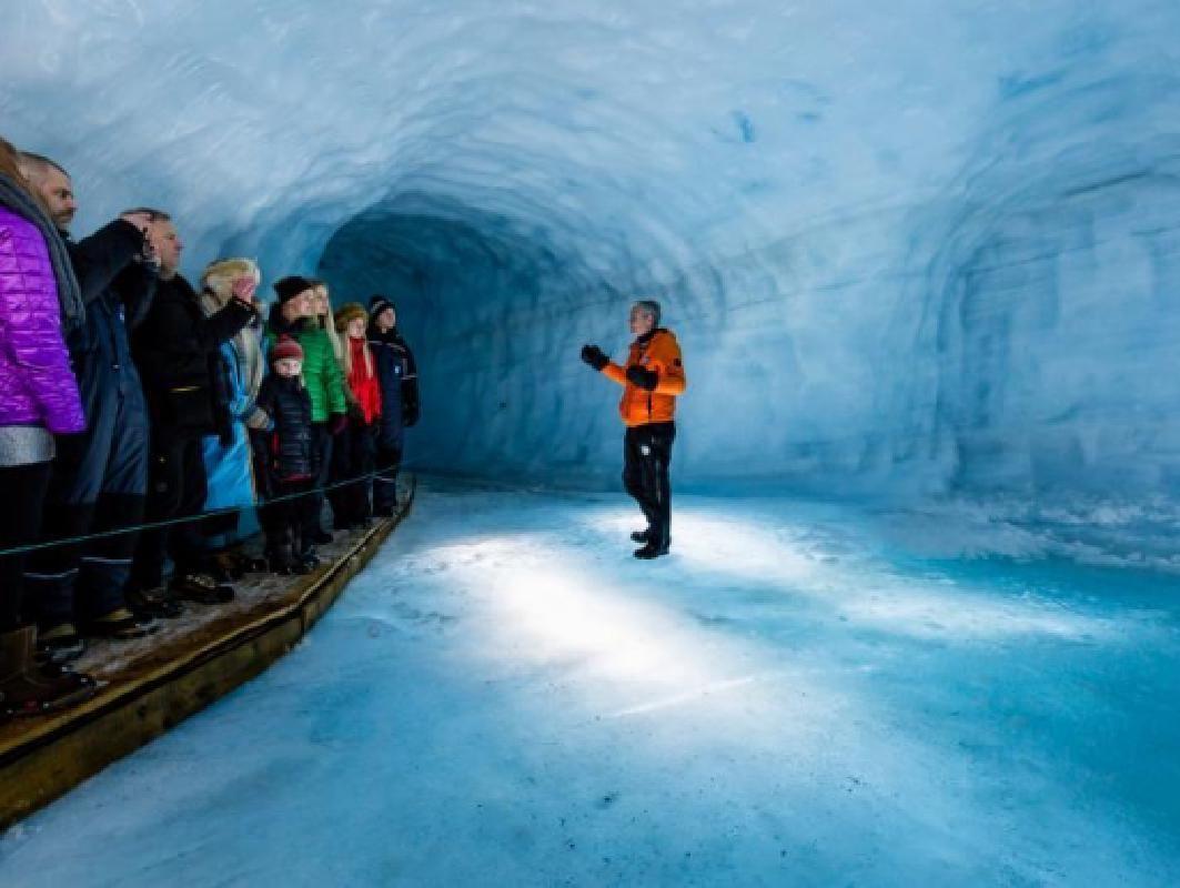 Langjokull Ice Cave Tour with Barnafoss and Hraunfossar Waterfalls Visit