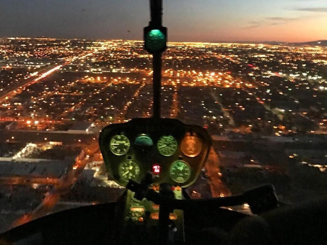 Gourmet Dinner & Evening City Lights Helicopter Tour