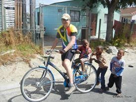 Cycling tour through Cape Town Township