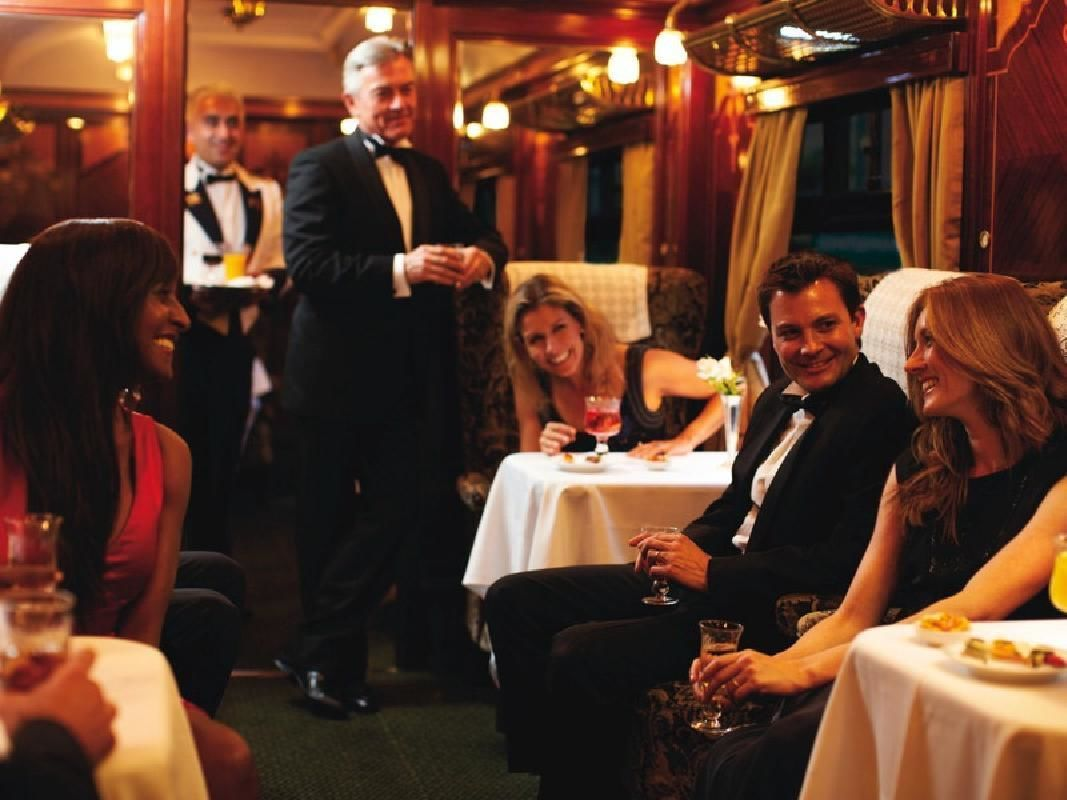 Luxury Retro Train Journey with Champagne Lunch from London