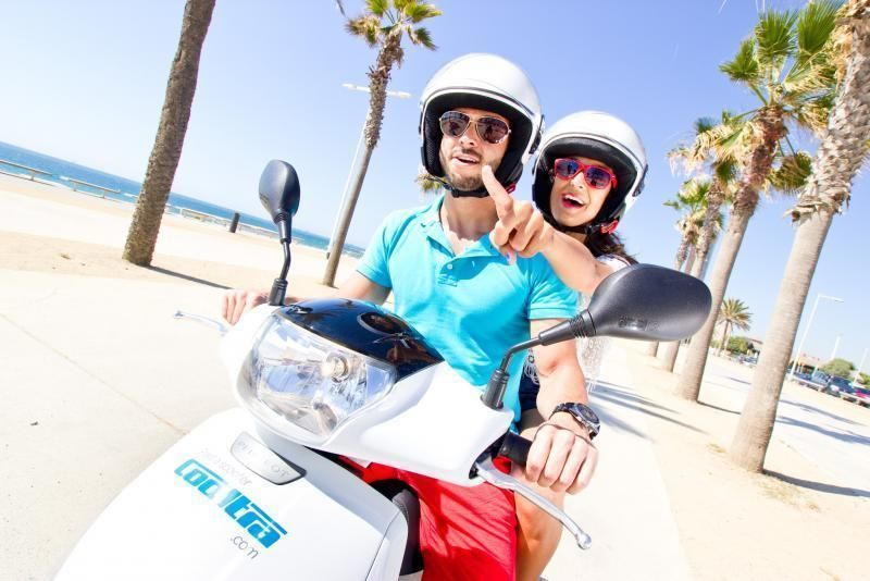 Barcelona Fun & Beach Scooter Tour