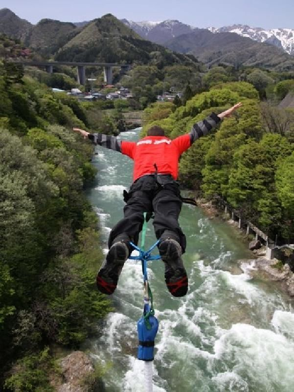 Thrilling Bridge Bungy Jump in Minakami