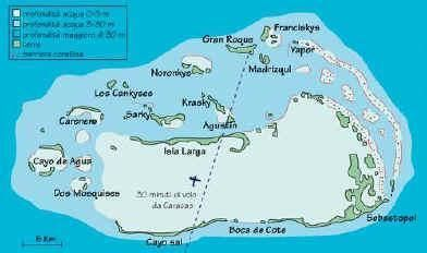 24h-excursion Los Roques - arrival by plane