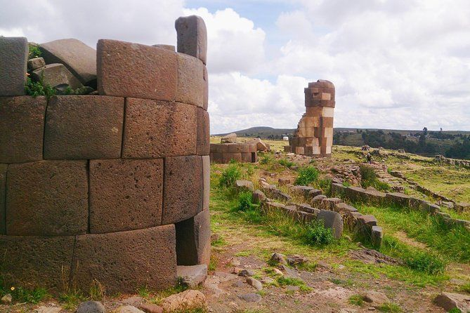From Puno: Sillustani Inca Funeral Towers, Hald Day