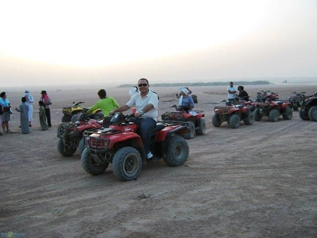 Desert Quad Safari at sunset with BBQ
