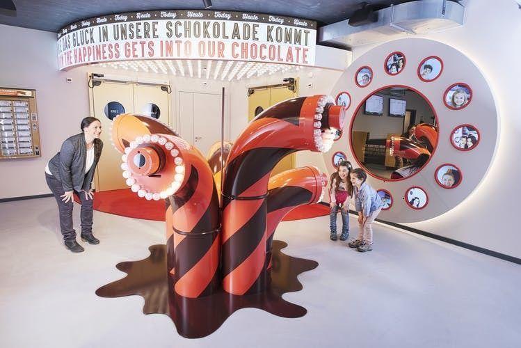 Self-guided interactive tour of the swiss chocolate factory Maestrani's Chocolarium near Konstanz
