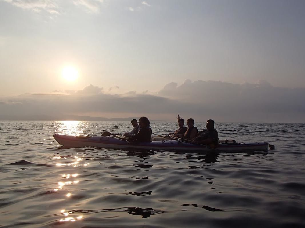 Sunset Sea Kayaking Excursion in Naruto