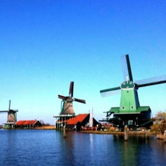 Typical Dutch: Amsterdam and windmills
