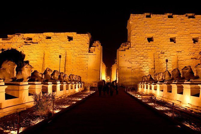 Sound and Light Show in Karnak temple, Luxor