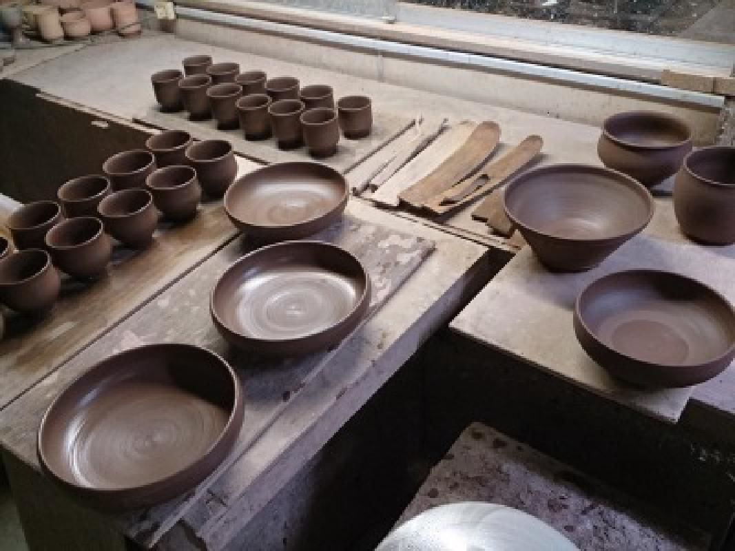Half Day Electric Potter's Wheel Ceramics Workshop in Tsukiyono