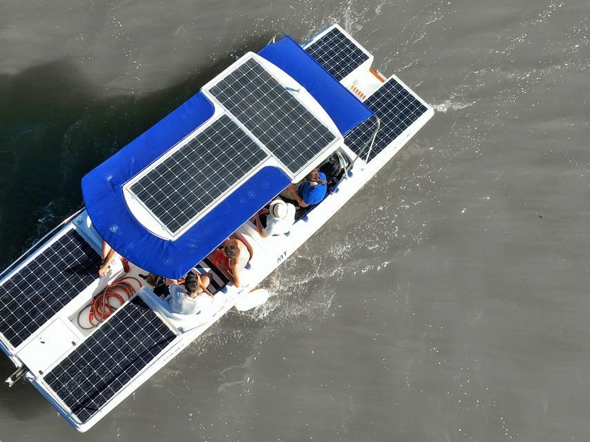 Solar Power Eco-Friendly Boat Trip on the Arade River Mouth
