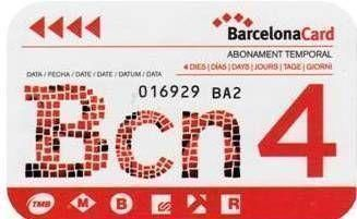 Barcelona Card: valid for 4 days