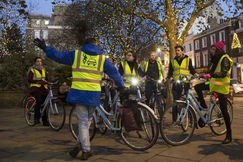 Christmas Lights Bike Tour of London