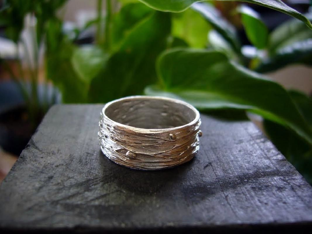 Silver Nature-Inspired Leaf Ring Making Experience in Yokohama
