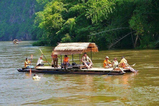 Bridge on the river kwai and Bamboo rafting day trip from Bangkok Kanchanaburi