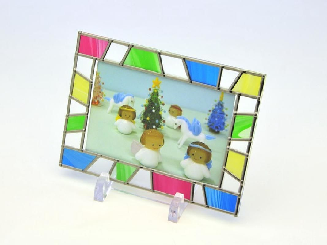 All Ages Stained Glass Style Photo Frame Making Lesson in Minakami