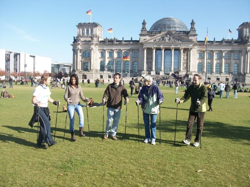 Nordic Walking city tour - the active Berlin experience for young & old
