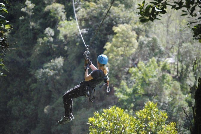 Ziplining in Puntzan Adventure Park in Baños
