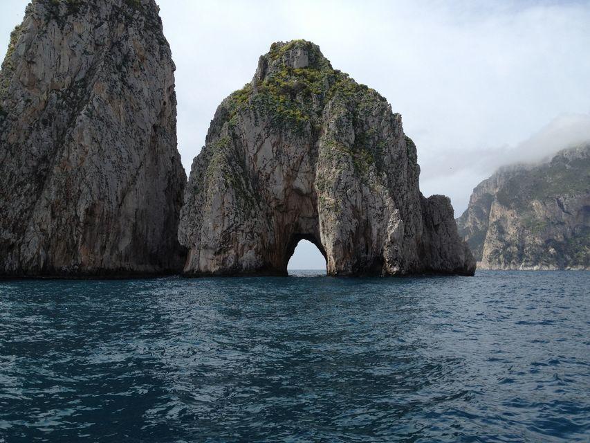From Positano: Private Boat Tour to Capri or Amalfi