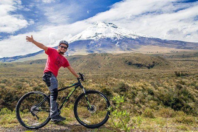 Biking around the Cotopaxi Volcano