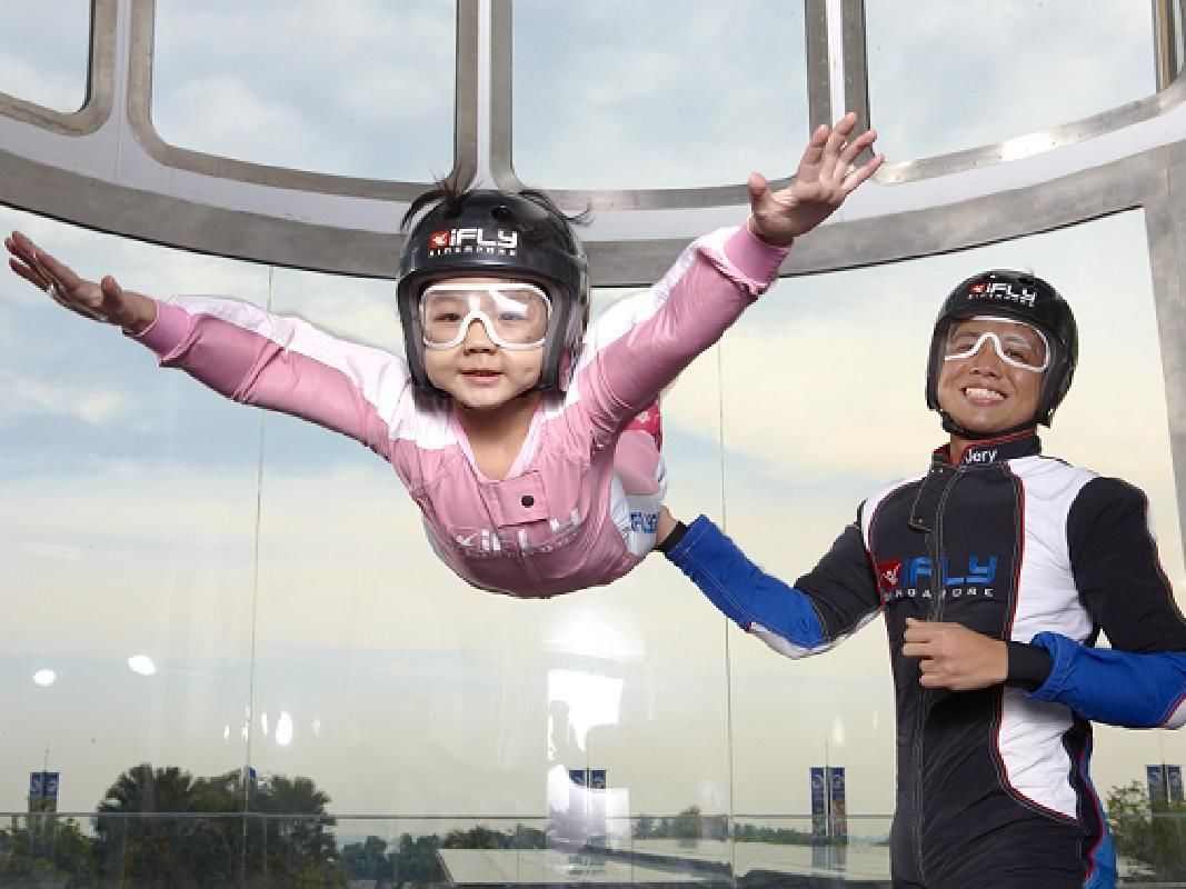 iFly Singapore Indoor Skydiving Experience with Training and Demo