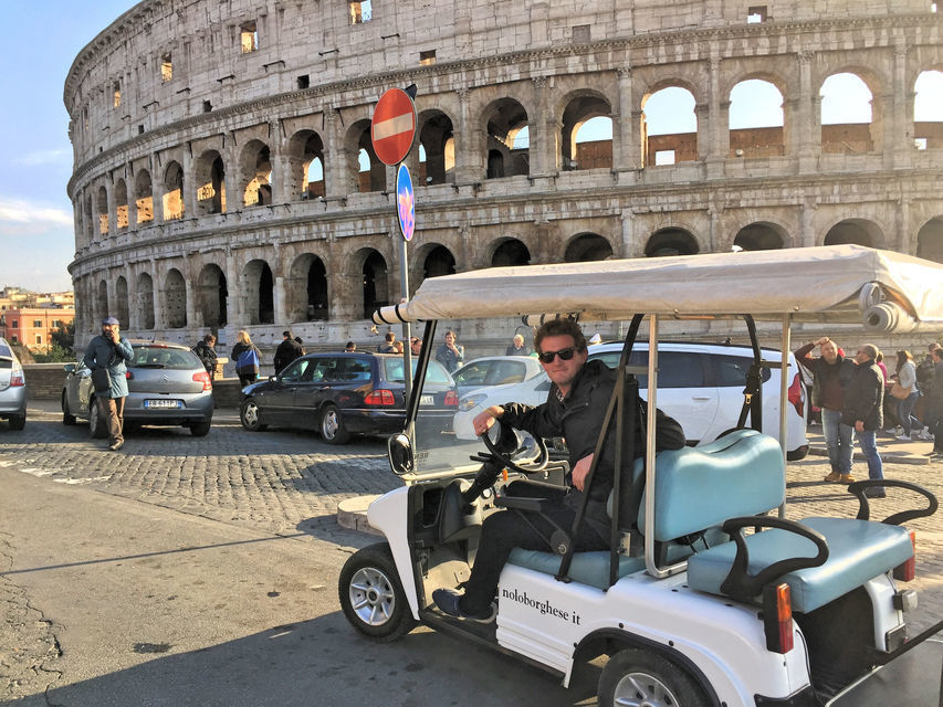 Rome Golf Cart Exclusive Private Tour