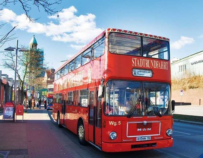 Sightseeing Tour Hamburg by bus and 1h boat