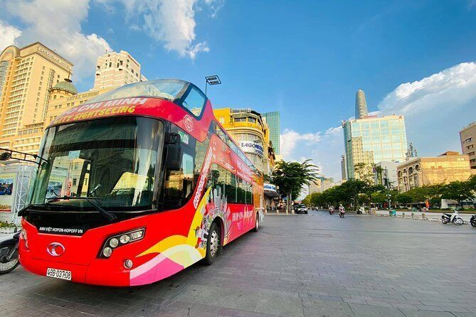 1H Ho Chi Minh City Sightseeing Tour: Hop-On, Hop-Off Bus