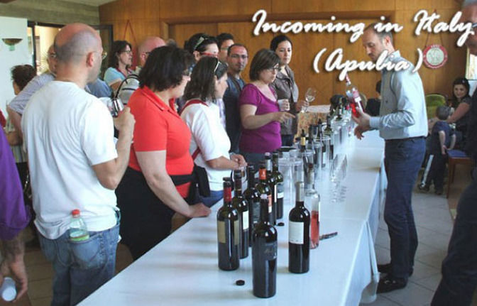"Wine tasting in a typical ""Masseria"" in Apulia - Southern Italy"