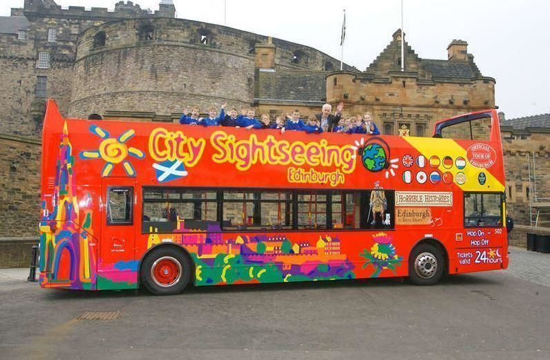 Edinburgh City Sightseeing Tour Hop-On/Hop-Off – 24h ticket