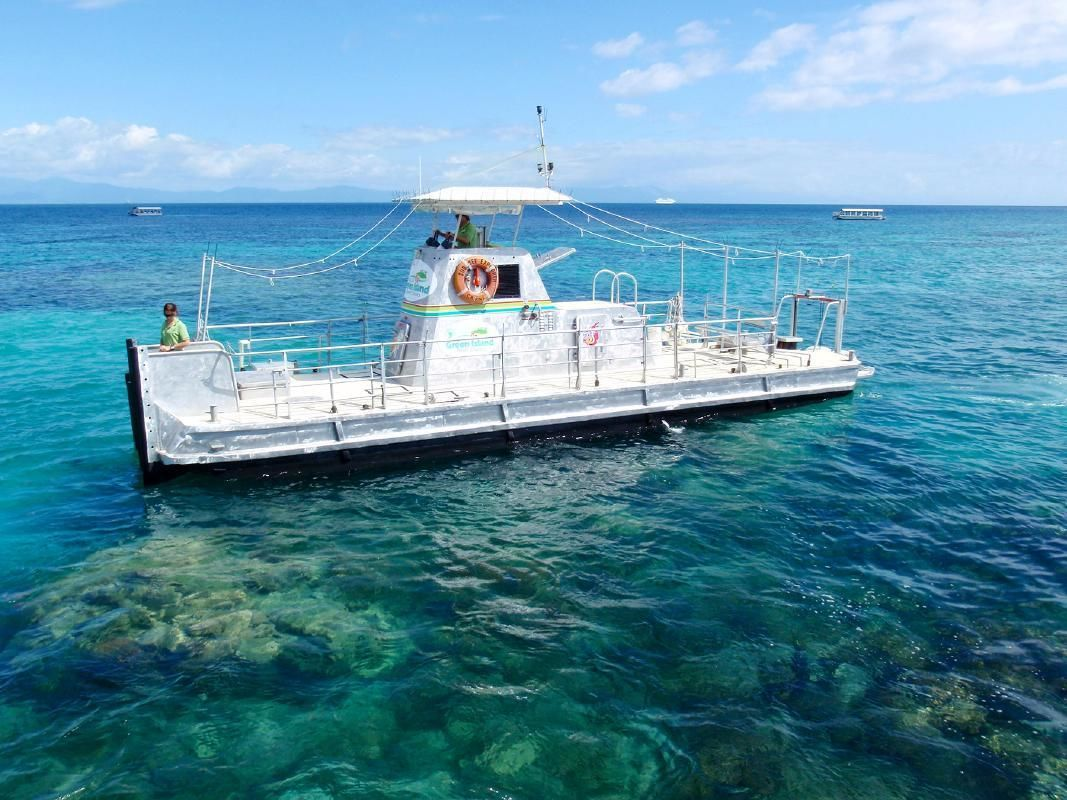 Green Island Afternoon Tour from Cairns with Snorkeling or Glass Bottom Boat