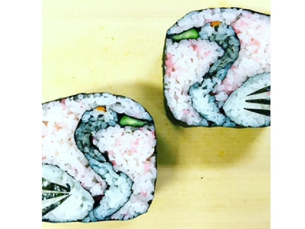Cute Decorative Sushi Roll Lesson in English at a Local Home in Nagoya